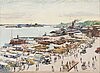 Hugo backmansson, view from helsinki market square.