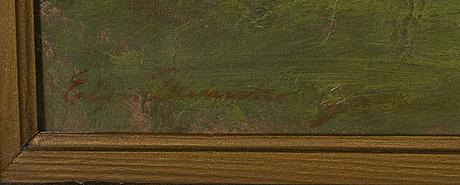 Elin danielson-gambogi, öljy levylle, signeerattu.