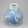 Josef ekberg, a sgrafitto vase, stoneware, gustavsberg.