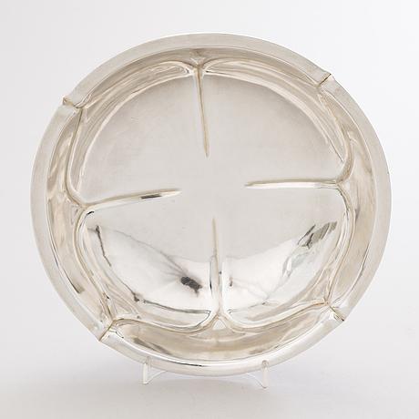 A russian silver bowl, mark of wa, assay master ivan vonifatiyevich yevstigneyev, saint petersburg 1879.
