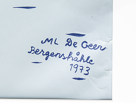 Marie-louise ekman, screenprint in colours/poster, 1973.