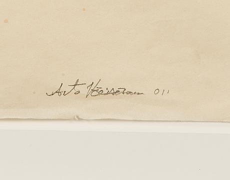 Arto vÄisÄnen, tusch och blyertspenna, signerad.