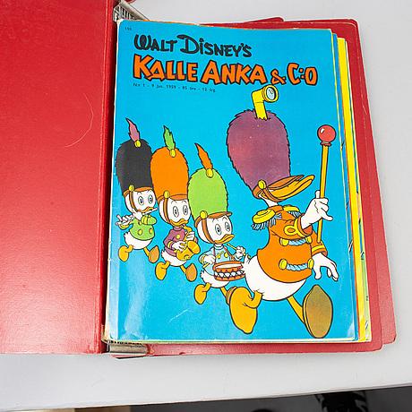 Kalle anka, serietidningar, 92 st, 1957-1959.