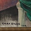 Dana bilde, oil on canvas, signed and dated 1928.