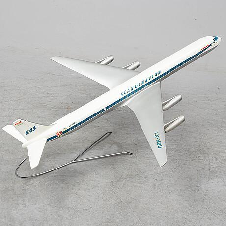 A sas dc8 model plane. fermo model factory, charlottenlund.