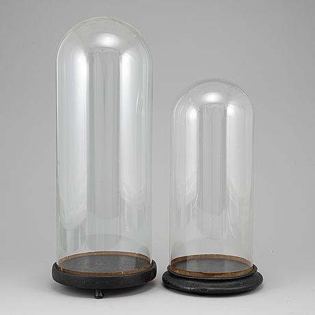 Glaskupor, 2 st, omkring 1900.