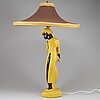 A ceramic table lamp, signed 1951.