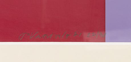 Pauli vuorisalo, serigrafia, signeerattu ja päivätty-71. numeroitu 27/40.