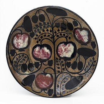 BIRGER KAIPIAINEN, a decorative bowl signed Kaipiainen Arabia.