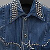 A studded denim shirt worn by benny andersson from abba.