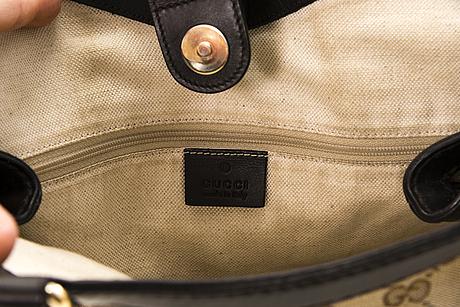 Gucci guccissima canvas tote bag.