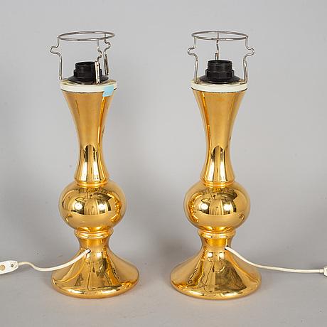 Bordslampor, ett par, luxus, modell nr 212, 1960/70-tal.