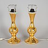 A pair of 1960's-70's table lamps by luxus.