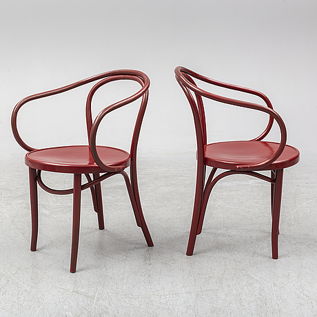 A set of four armchairs, zpm radomsko, poland, mid 20th century.