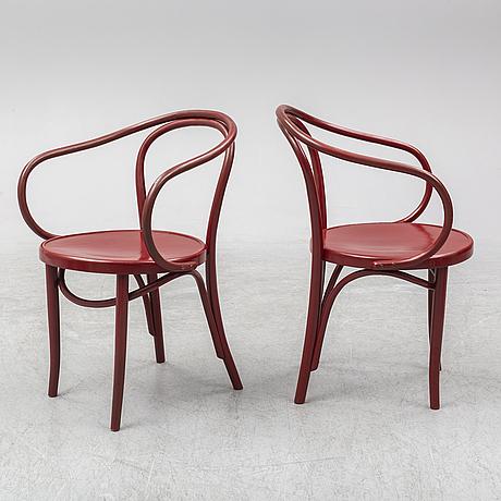 A set of four armchairs, zpm radomsko, poland, mid 20th century.