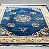 A carpet, old china, ca 332 x 246 cm (as well as ca 4 and 5 cm flat weave at the ends).