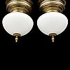 A pair of mid 20th century ceiling lights.
