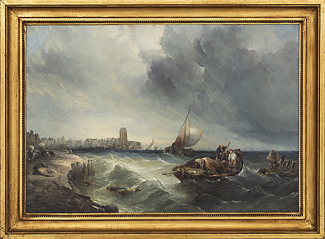 Alfred montague, oil on relined canvas, signed and indistinctly dated.