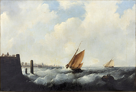 Wilhelm august krause, oil on canvas, signed and dated 1832.