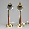 A pair of swedish table lamps, mid 20th century.