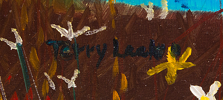Terry laakso, oil on wood, signed and dated 2013 a tergo.