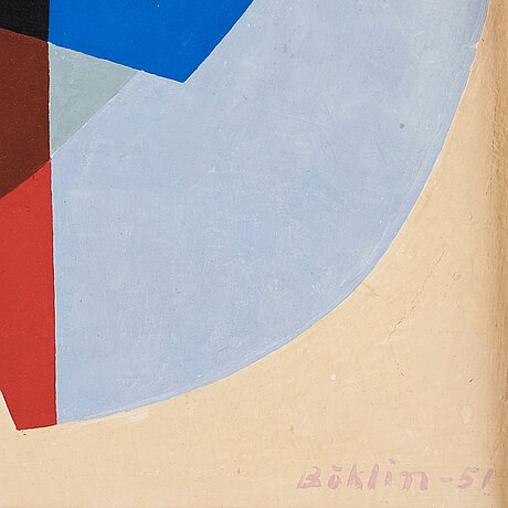 Per-erik bÖklin, tempera on panel, signed and dated -51.