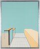 Sten eklund,  painted acrylic glass, signed se and dated -68.