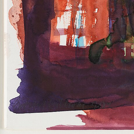 Andreas eriksson, watercolour, signed and dated 2004.