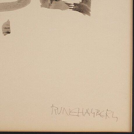 Rune hagberg, ink, signed rune hagberg.