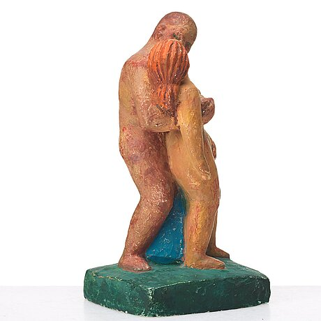 Bror hjorth, sculpture, painted plaster, signed, numbered 1/10 and dated 1965.