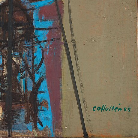 Co hultÉn, oil on canvas, signed and dated 55.