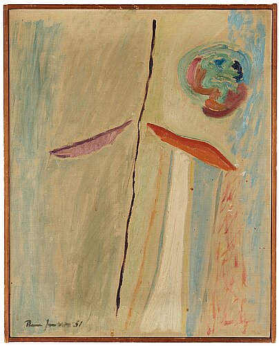 Rune jansson, oil on canvas, signed and dated -51.