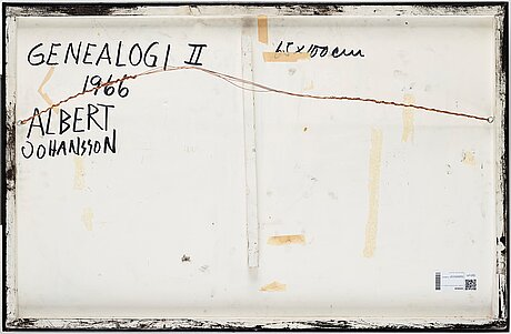 Albert johansson, painted assemblage on panel, signed and dated 1966 on verso.