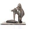 Arne jones, sculpture,  bronze with silver patina, signed arne jones, numbered 3/4 and dater 48.