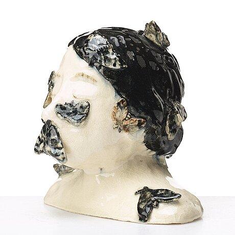 Klara kristalova, a glazed stoneware sculpture, signed and dated -04.