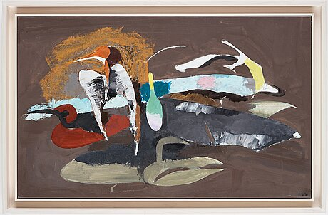Lage lindell, oil on canvas, signed ll.
