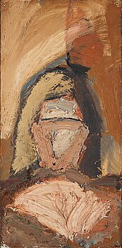 Evert Lundquist, oil on canvas, signed and dated Sicily 1948 verso.