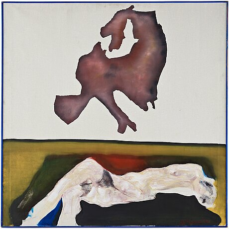 Ulrik samuelson, oil on canvas, signed verso and dated 1965.