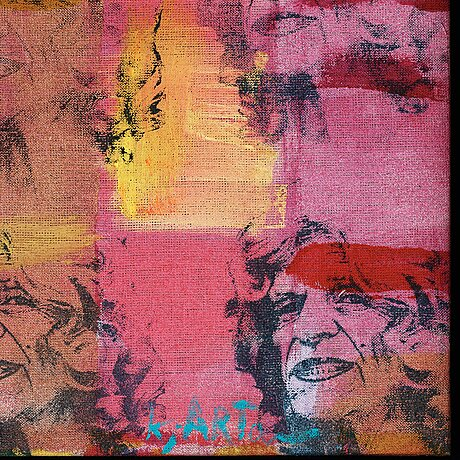 Kjartan slettemark, silkscreen and acrylic on canvas, signed and dated 2007 on label verso.