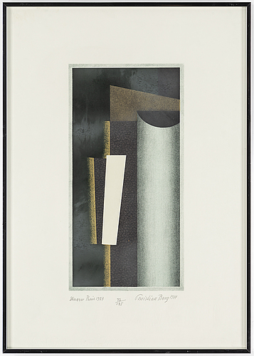 Christian berg, lithograph in colours, 2, 1974, signed 72/125.