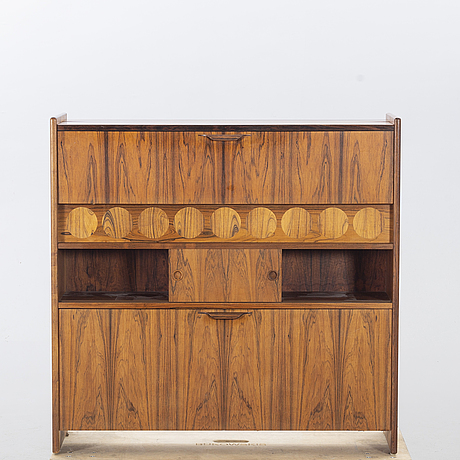 Johannes andersen, barcounter and two bar chairs, denmark, 1960's.