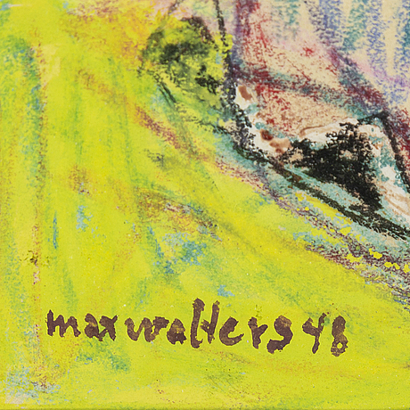 Max walter svanberg, pastel and goauche, signed and dated -48.