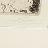 Anders zorn, etching, 1918, signed.