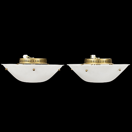 A pair of 1960's ceiling lamps.