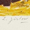 Lennart jirlow, färglitografi, signerad och numrerad 164/310.