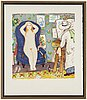 Lennart jirlow, lithograph in colours, signed and numbered 164/310.