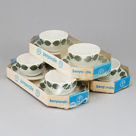 A set of six 'berså' coffee cups by stig lindberg, 1960's.