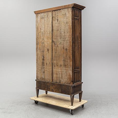 A gustavian style cupboard, 20th century.