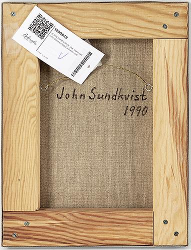 John sundkvist, duk signerad och daterad 1990 a tergo.