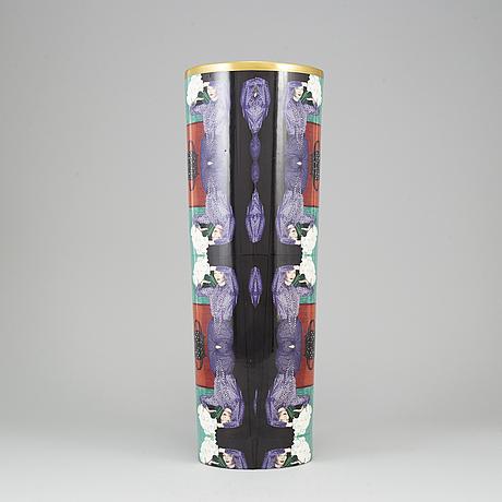Åsa lindstrÖm, a porcelain vase, signed and dated 2000.